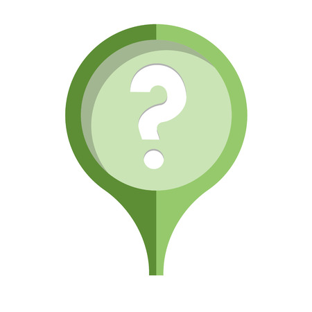 the illustration of stylish pin with question mark icon Vector