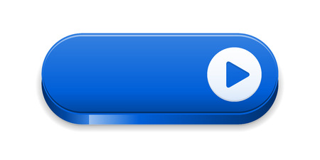 the blue blank button with arrow sign Vector