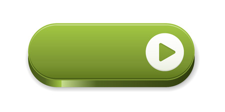 the green blank button with arrow sign Vector