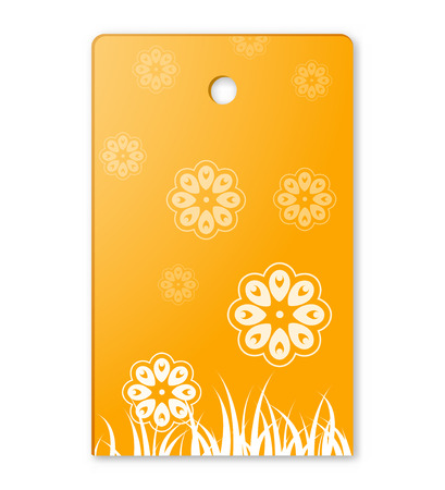 the blank label with flower pattern Illustration