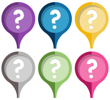 the illustration of stylish pins with question mark icon Imagens - 27958266