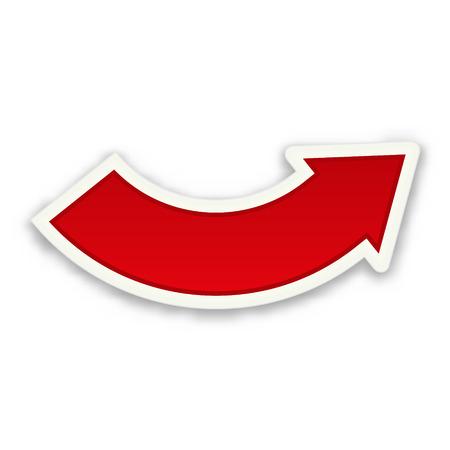 the blank glossy red curve arrow Иллюстрация