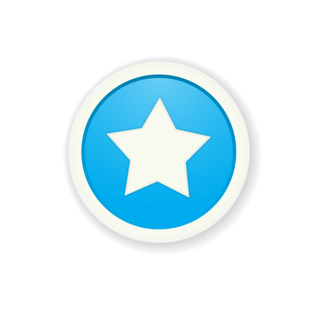 radio button: il illustrazione di pulsante lucido con stella pittogramma