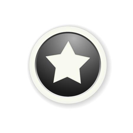 radio button: l'illustrazione pulsante lucido con stella pittogramma