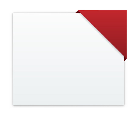 the blank white web banner with blank red corner