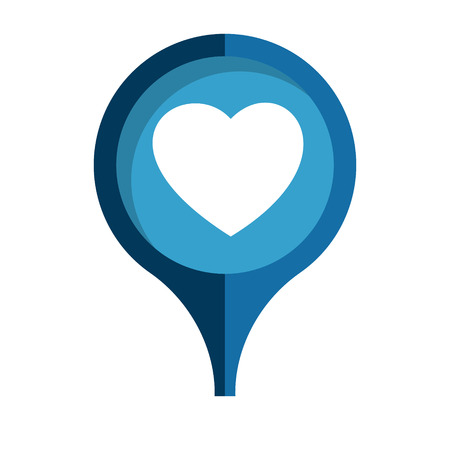the blue tag with white heart pictogram