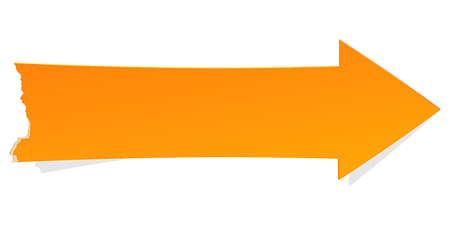 The orange arrow with tattered edge