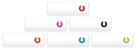 the set of blank buttons with arrow sign Vector