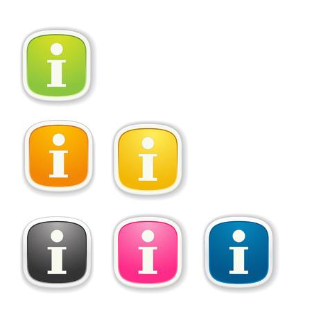 button set: die Quadrat-Taste mit i Buchstaben gesetzt