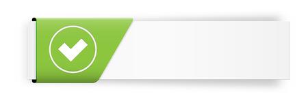 De witte knop met accepteren symbool Stock Illustratie