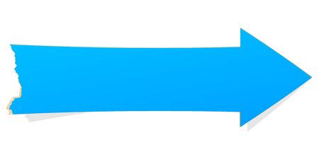 flecha: La flecha azul con el borde hecho andrajos