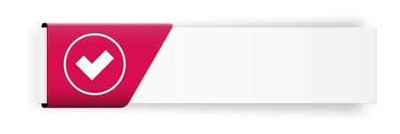 accepter: Le bouton blanc avec accepter symbole Illustration