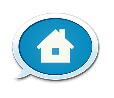 homestead: The House pictogram inside speech bubble