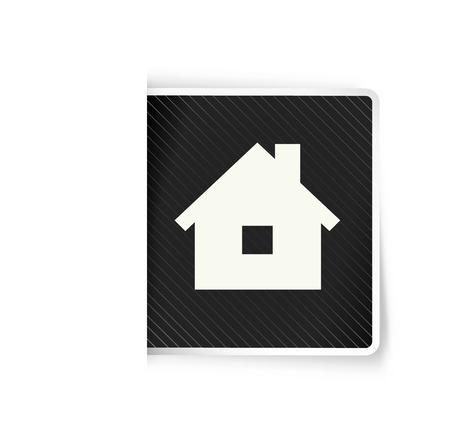 homestead: the illustration of house pictogram Illustration