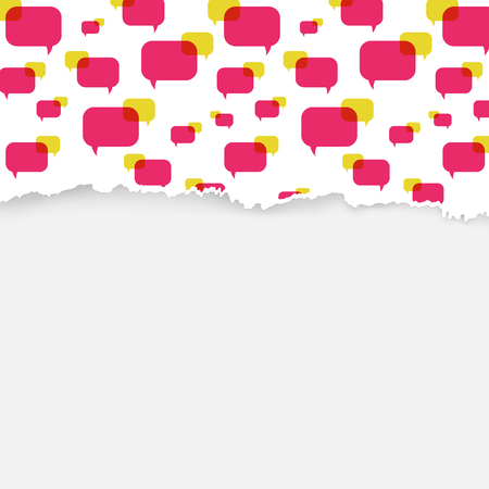 tattered: the illustration of speech bubbles pattern with tattered edge Illustration