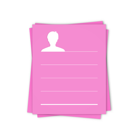 adviser: the blank info template with head silhouette