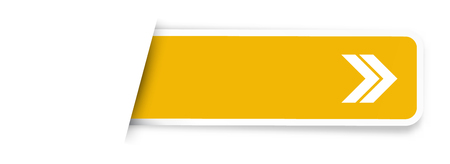 the yellow blank label with arrow sign