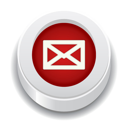 the red button with envelope icon Ilustração