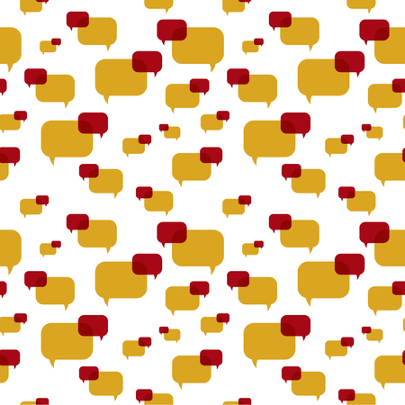 the illustration of speech bubbles pattern