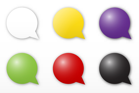 the blank bubble icon set