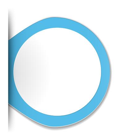 the blank oval label Ilustração