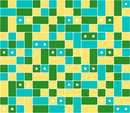 the abstract background made out of different color squares / the seamless square background / geometric background