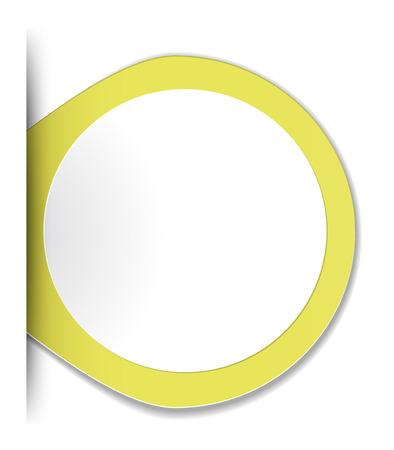the blank yellow label with hidden edge effect Ilustração