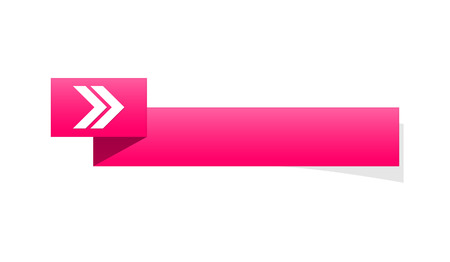 the pink blank label with arrow sign Ilustração