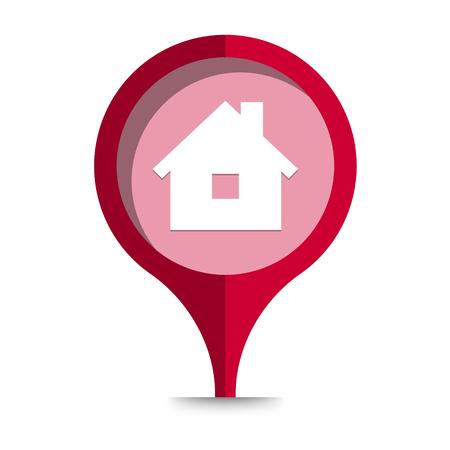the illustration of house pictogram Ilustração