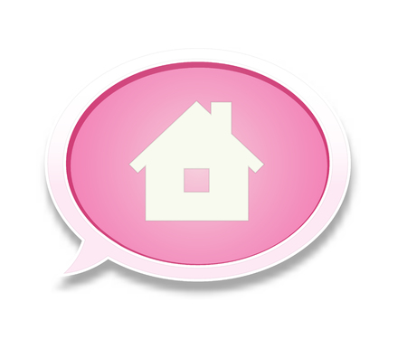 the house pictogram inside speech bubble