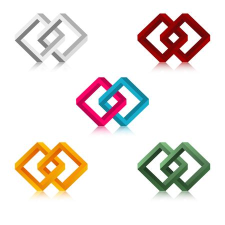 the abstract diamond graphic element Ilustração
