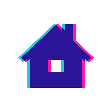 the tricky color pictogram of house