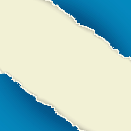 The abstract blue background / The torn piece of paper