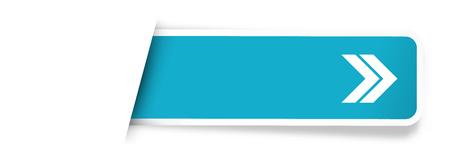 the blank rectangular tag / the blue label with arrow pictogram Ilustração