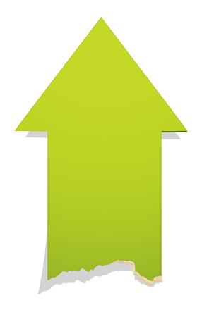 ボロボロのエッジ効果を持つ緑のポインター