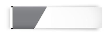 空のタグとホワイト ラベル  イラスト・ベクター素材