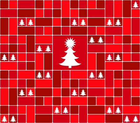 The christmas background on plain background. Illustration
