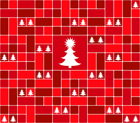 The christmas background on plain background. Ilustrace