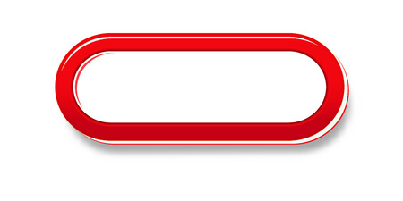 De rode glanzende badge met lege ruimte voor uw tekst