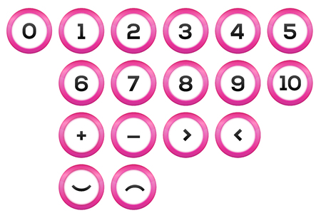 De wiskundige symbolen Stock Illustratie
