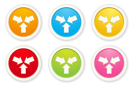 O conjunto de ícones de inicialização Foto de archivo - 89594300