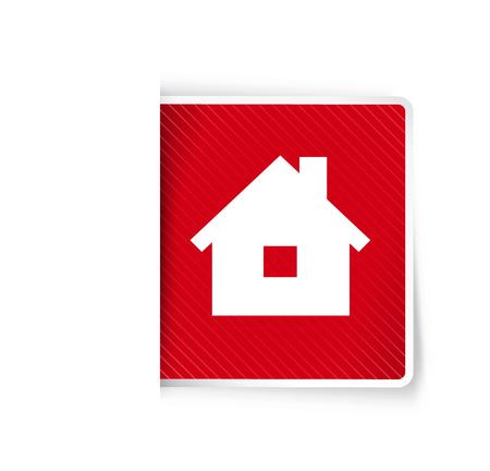 La ilustración del pictograma de la casa Foto de archivo - 89594281