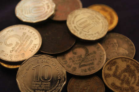 rupees: Sri Lankan coins - Rupees Stock Photo