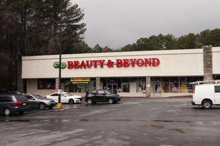 Dekalb County, Ga / USA - 02 25 20: Beauty and Beyond store 에디토리얼