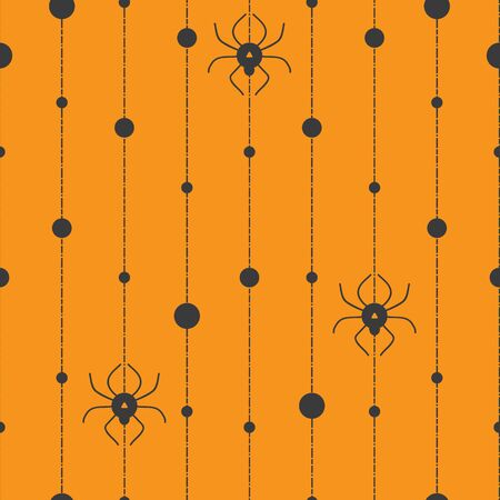 Spider bead curtain seamless repeat pattern great for halloween stationary, fabric, costumes and more