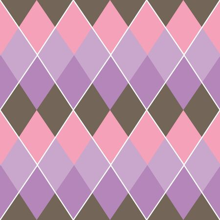 cascading argyle seamless repeat patter in pinks, purples, and brown great for fabric, kids clothing, home decor, girls nursery, and more.