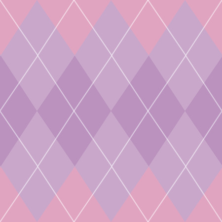 Classic argyle seamless repeat pattern in purple, pink, and white great for fabric, home decor, paper products, and more. Stock Illustratie