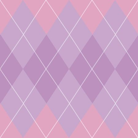 Classic argyle seamless repeat pattern in purple, pink, and white great for fabric, home decor, paper products, and more. Stockfoto