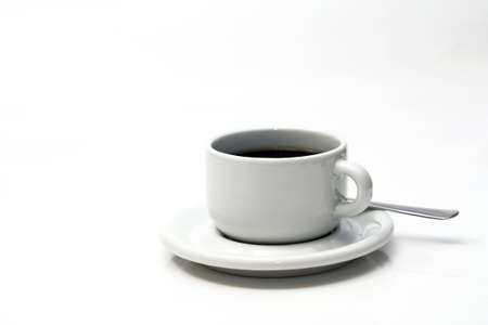 stimulating: a white cup of coffee
