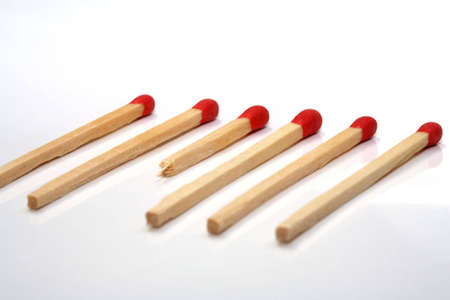 Some matches and a white background Stock Photo - 807422